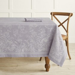 Floral Jacquard Tablecloth,...