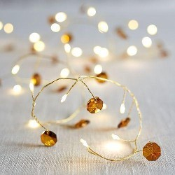 Amber Jeweled Branch LED...